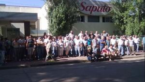 Bloqueos en la protesta de Saputo, en Sunchales, provincias de Santa Fe.