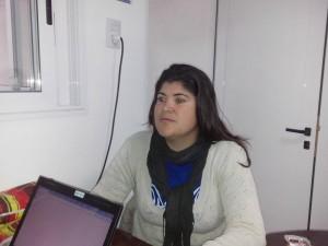 Vanesa Alva, peluquera de la localidad