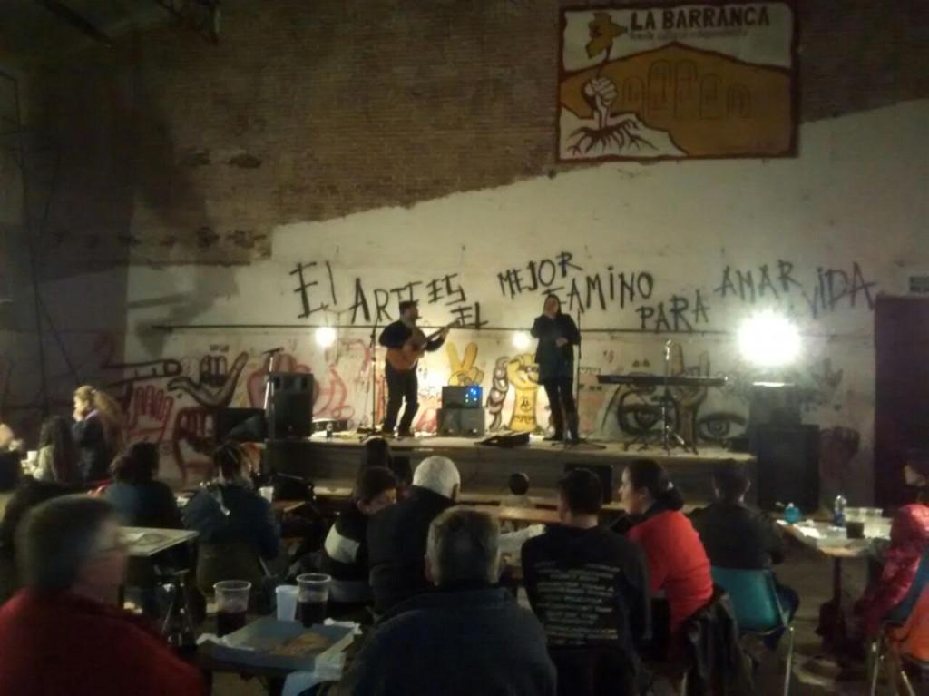 Presentación del disco en el Centro Cultural La Barranca de Diamante